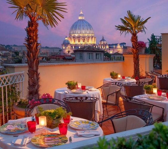 Hotel Raphael Rome rooftop