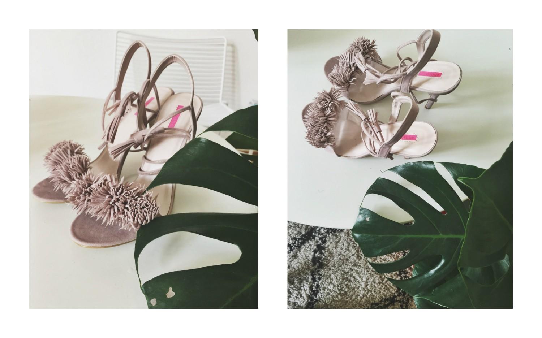 Asos high heels pink tassel