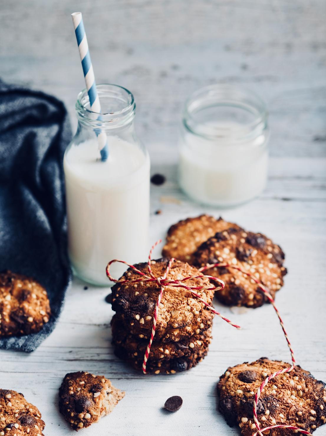 Sunde cookies med boghvede og chokolade