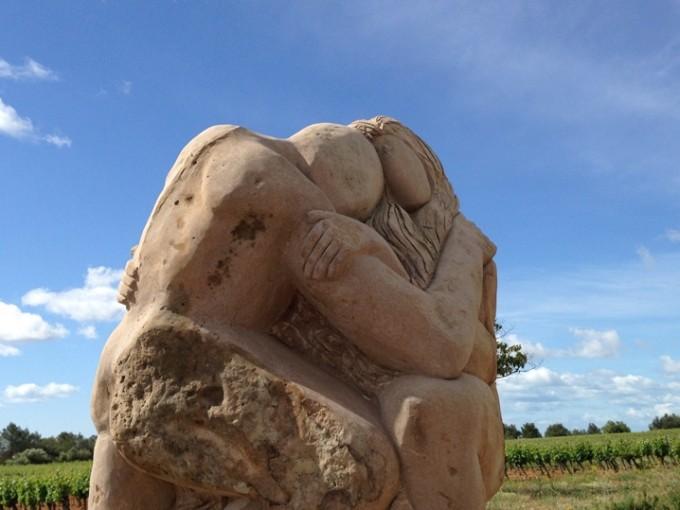 Skulptur set på ferie i Languedoc