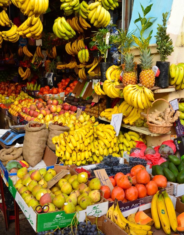 Frugter på et marked i Marokko