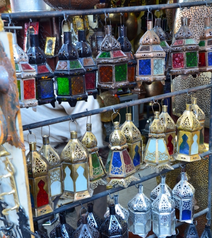 Lanterner - foto til artikel om shopping i Marokko