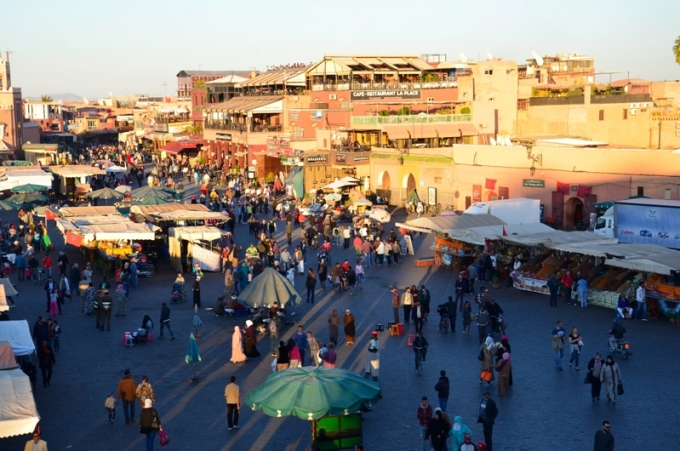Markedet i Marrakech Marokko