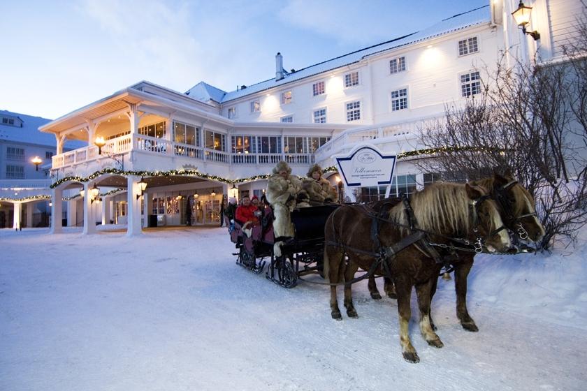 Dr Holms hotel set udefra. Geilo, Norge