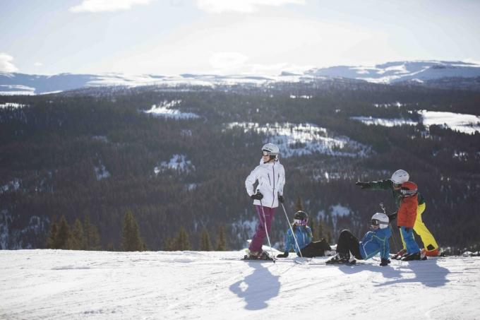 Familie på pisten i Kvitfjell