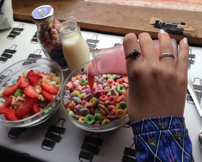 Cereals fra Cereal Killer Cafe på Brick Lane i London.