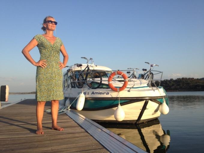 Ferie i Portugal ombord på en husbåd på Alqueva-søen.