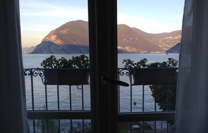 Udsigt fra Hotel Rivalago ved Iseosøen. Foto: Karen Seneca