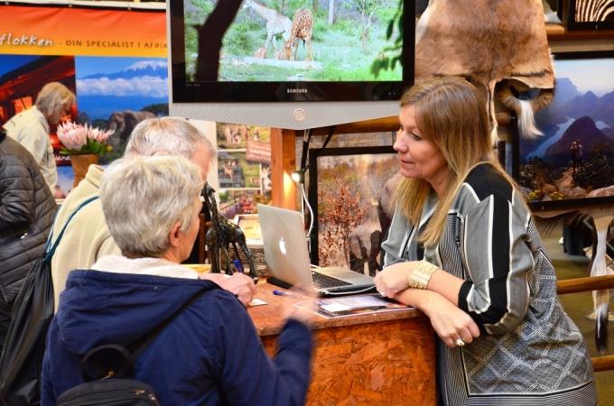 Stand med safarirejse på Ferie for alle