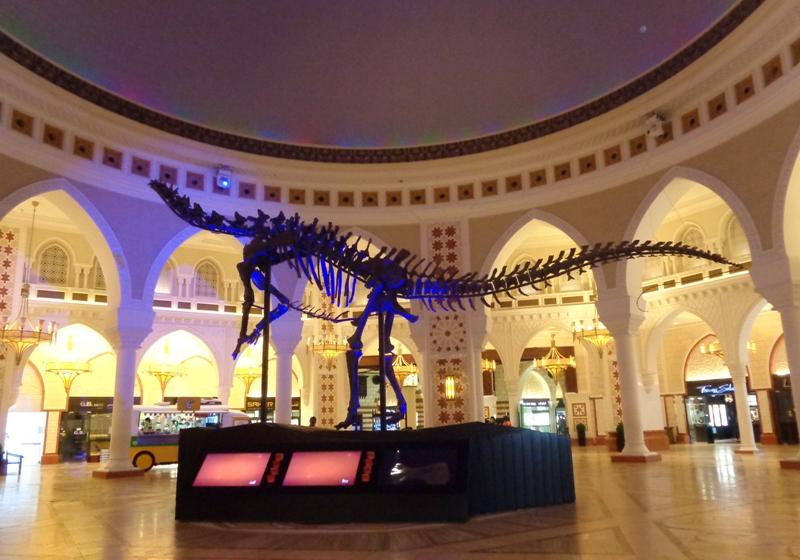Dinosaurskelet i Dubai Mall