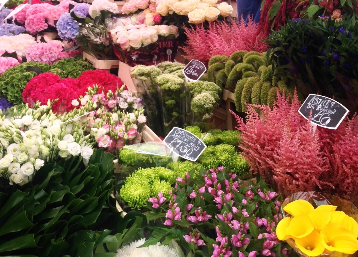 Blomster på Columbia Flower Market