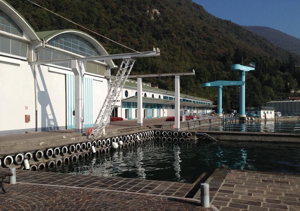 Et af bassinerne, hvor Rivas både bliver testet.