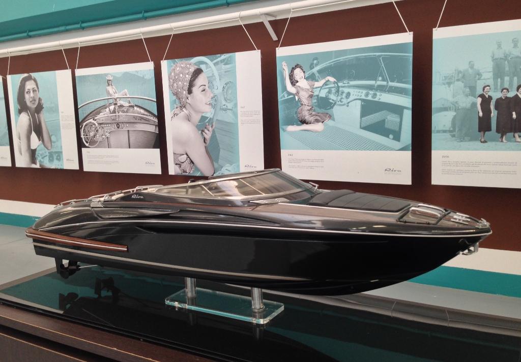 Rivas glamourøse fortid udstilles sammen med modeller af de pragtfulde både.