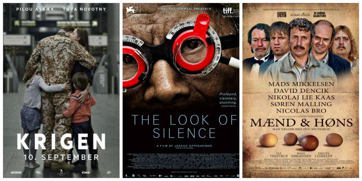 Oscar Shortliste DK film Kollage