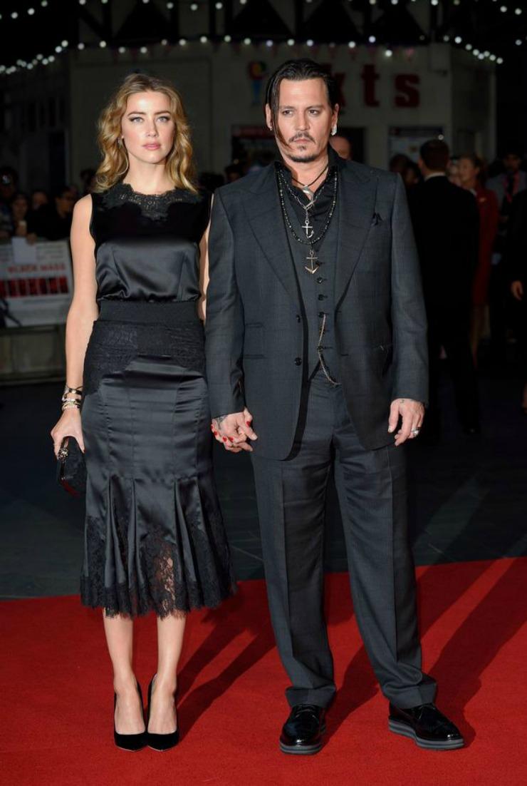 Johnny Depp and AMber Heard London Film Festival