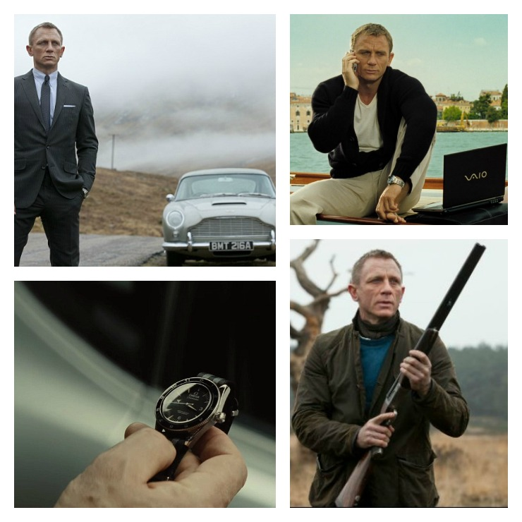 Bond Product Placement Collage