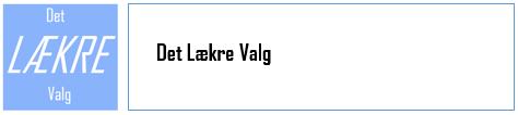 Det LÆKRE Valg - log