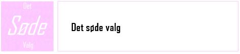 Det SØDE Valg - logo