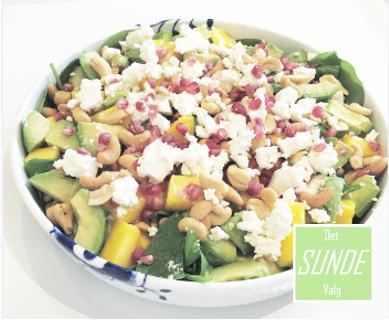Spinat - mango salat