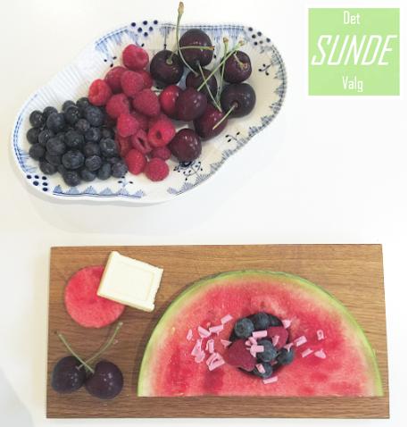 Vandmelon med frugt dessert 1