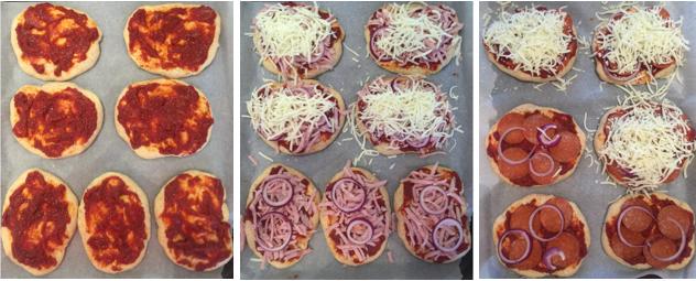 Pizzaboller m. skinke 2