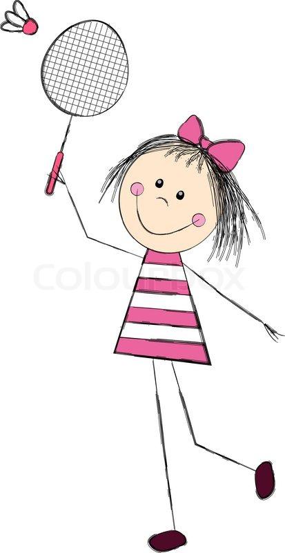 9560119-cute-little-girl-playing-badminton