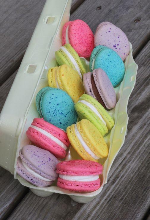 diy pastel easter egg macarons diy easter craft ideas homemade holiday treats-f58410