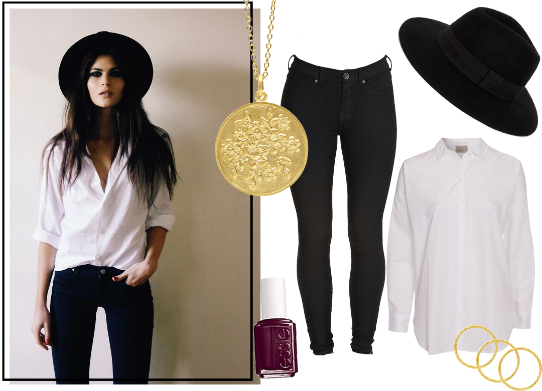 GET THE LOOK - OVERSIZE WHITE SHIRT & FEDORA HAT