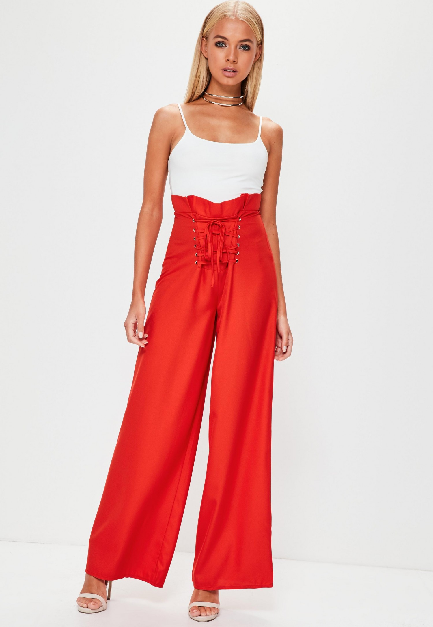 premium-red-lace-up-corset-waist-wide-leg-trousers