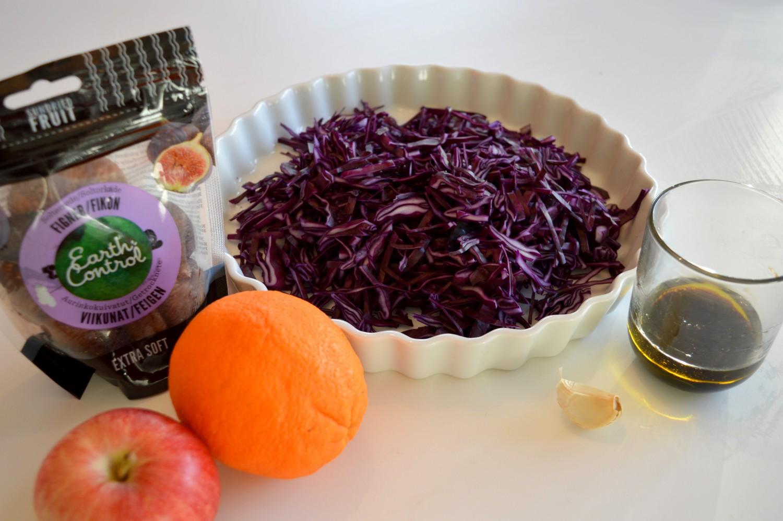 Ingredienser rødkålssalat