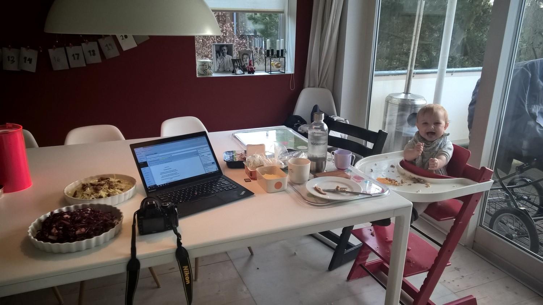 Behind the scenes #multitaskingmom