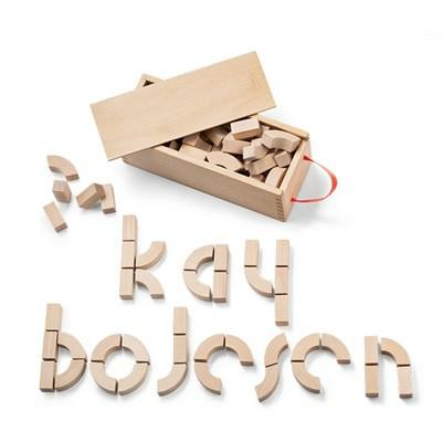 Kay Bojesen Alfabetklodser dåbsgave