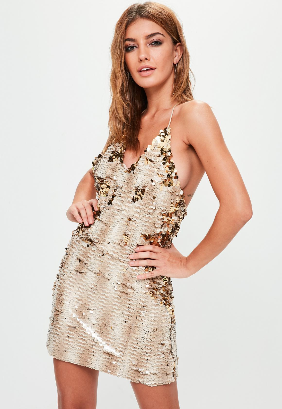 nude-embellished-strappy-mini-dress