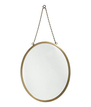 rundt spejl kobber metal