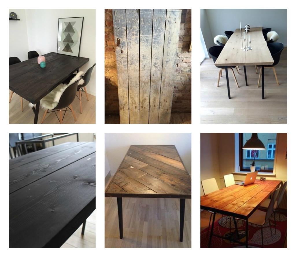 plankebord brugt slidt
