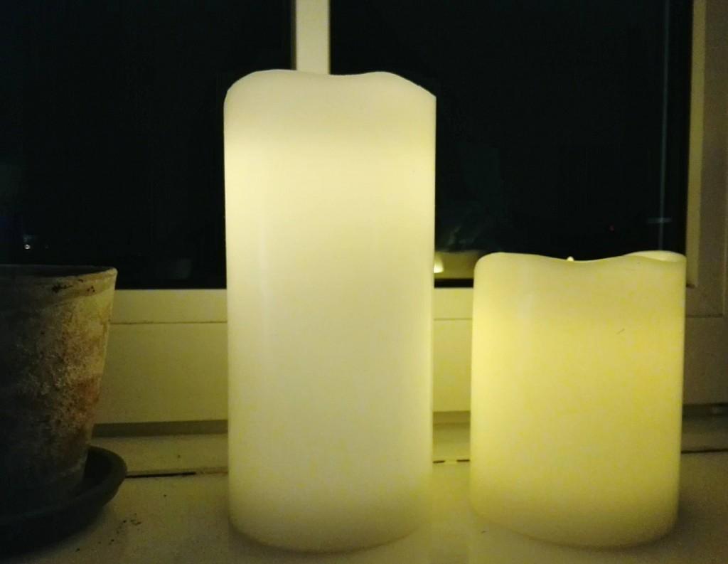 stearinlys bloklys LED