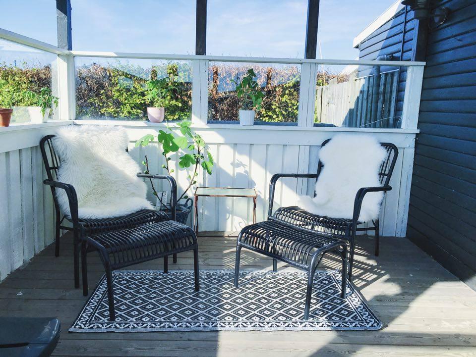 indretning af terrasse