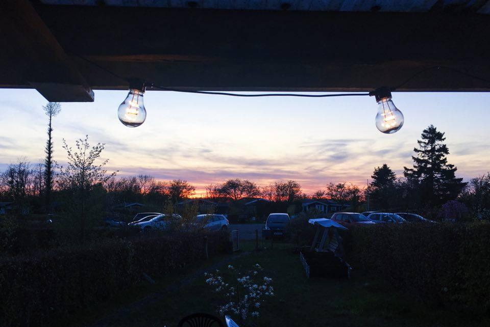 udendørs lyskæde terrasse