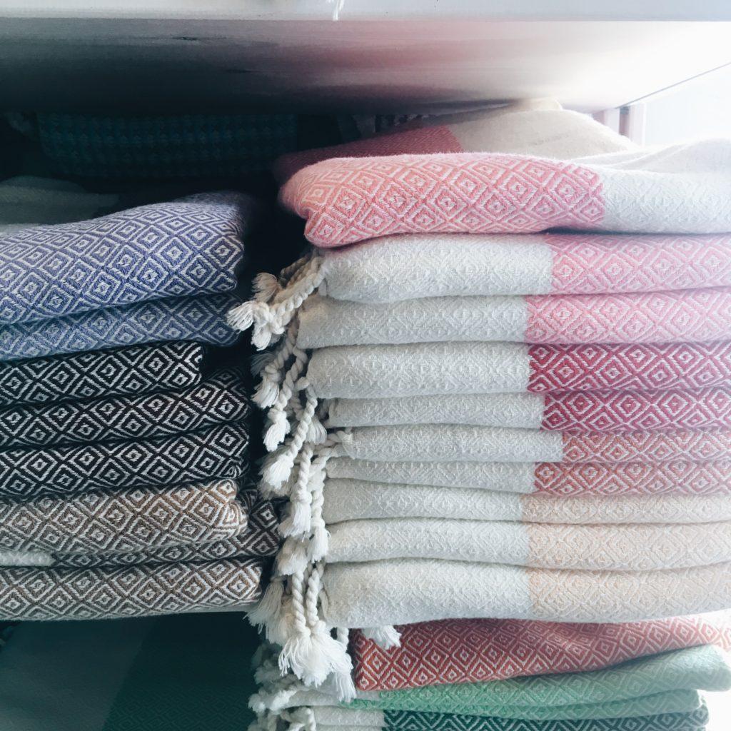 tyrkiske håndvævede hamam håndklæder