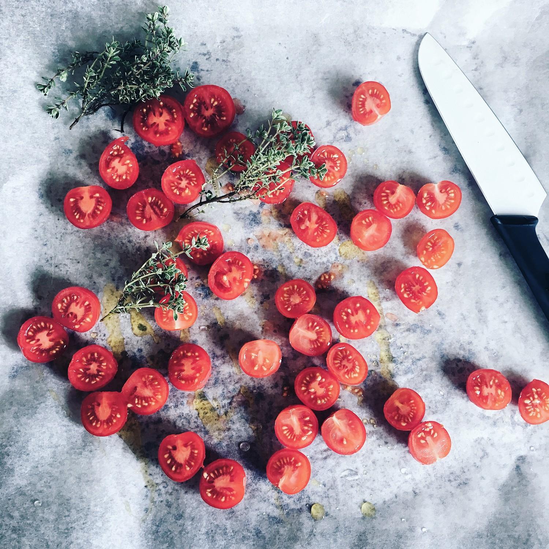 langtidsbagte cherrytomater