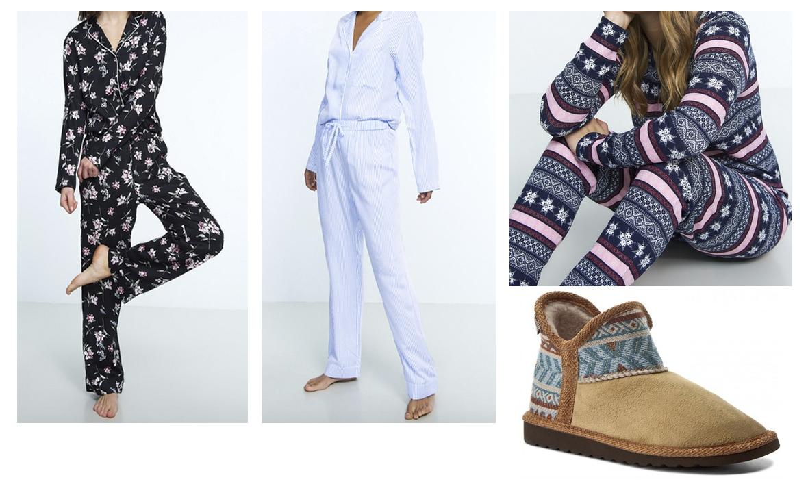 pyjamas og hjemmesko