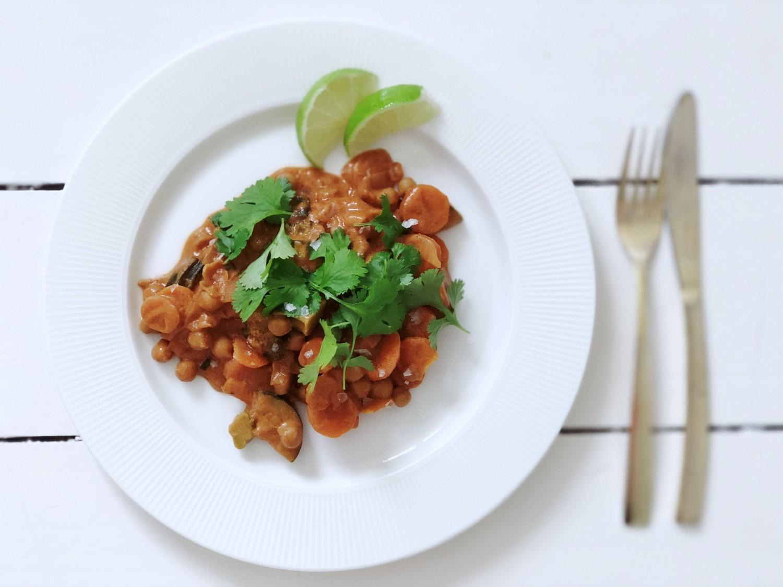 vegetarisk wok med kikærter