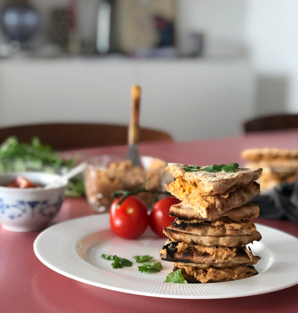 opskrift vegetariske quesadillas