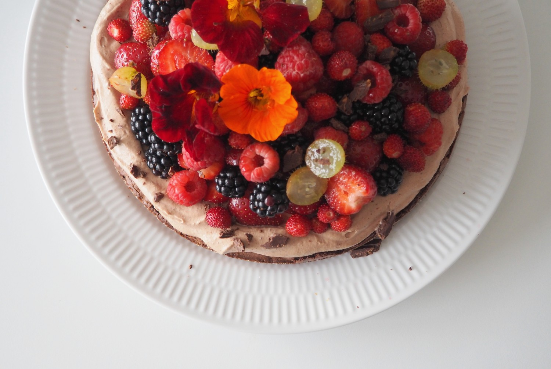 brownie opskrift med bær