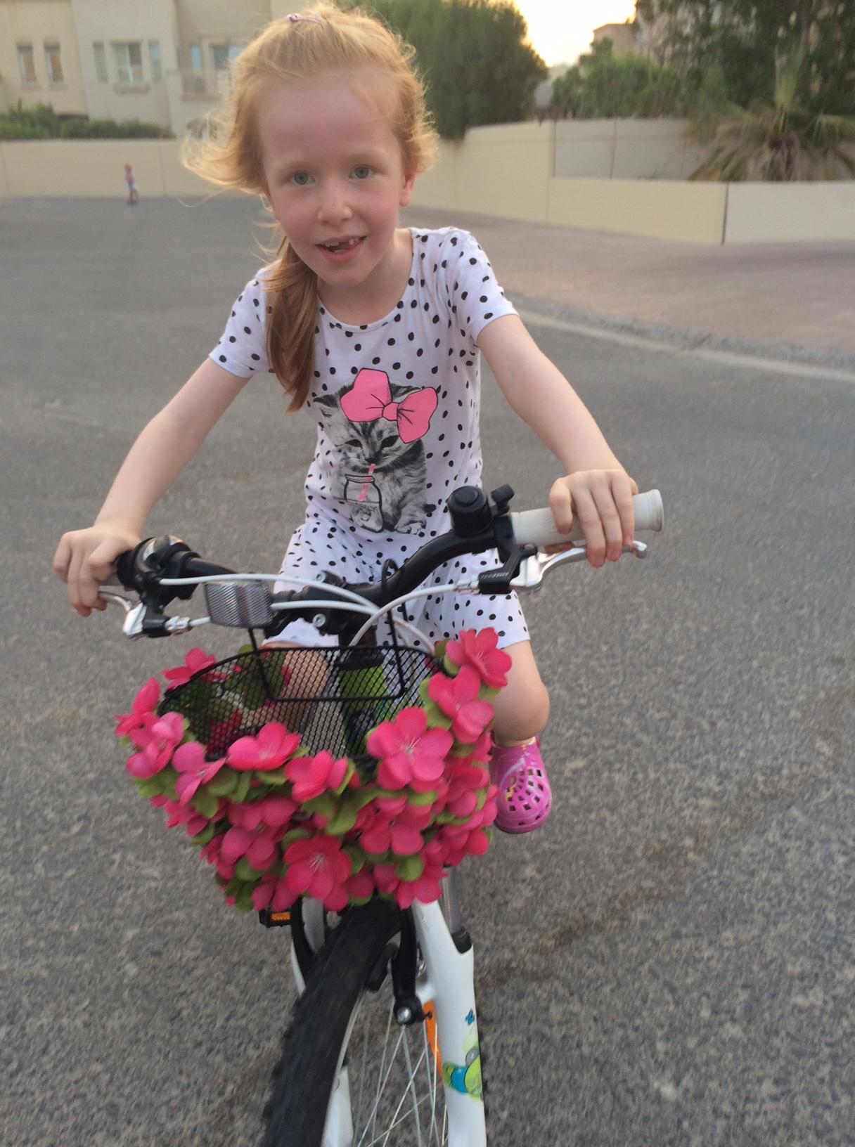 Cilles første cykeltur sept 2015