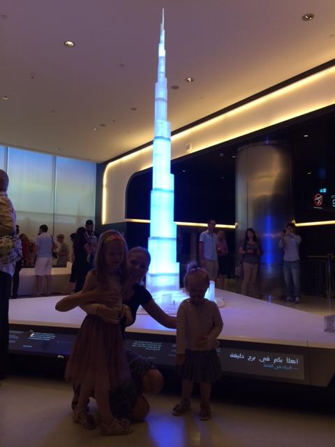Indgangsområdet, hvor en model af tårnet er på display