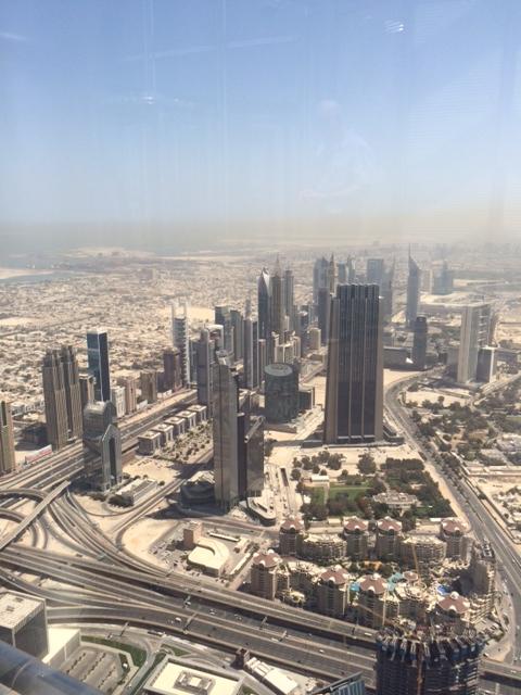 Udsigt mod nord ad Sheikh Zayed Road