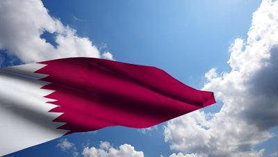 stock-footage-qatar-flag-animation-with-real-time-lapse-clouds
