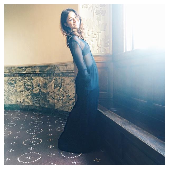 samsøe samsør lang sort kjole