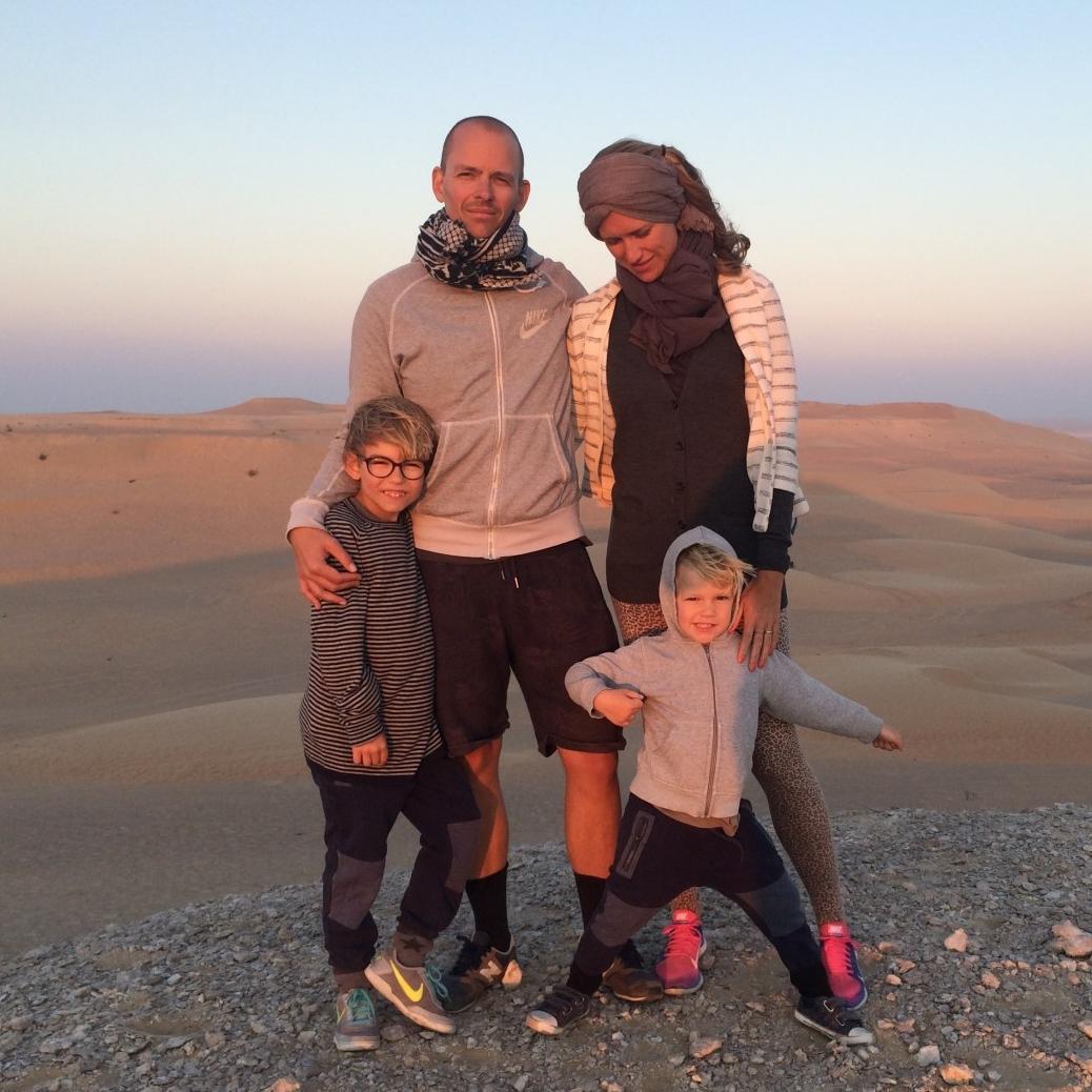 familiefoto ørken
